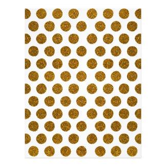 Girly Chic Gold Polka Dots Glitter Photo Print Custom Flyer