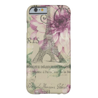 girly chic paris eiffel tower vintage floral barely there iPhone 6 case