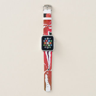 Girly Chic Red 38mm Apple Watch Leather Bands