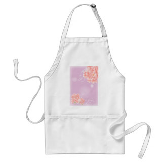 girly chic spring watercolor floral pink peony adult apron