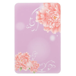 girly chic spring watercolor floral pink peony magnet
