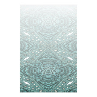 girly chic  teal turquoise tooled leather pattern stationery
