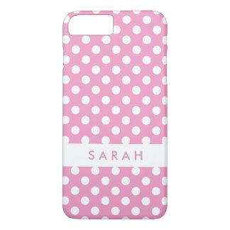 Girly Chic Trendy White Pink Polka Dots iPhone 8 Plus/7 Plus Case