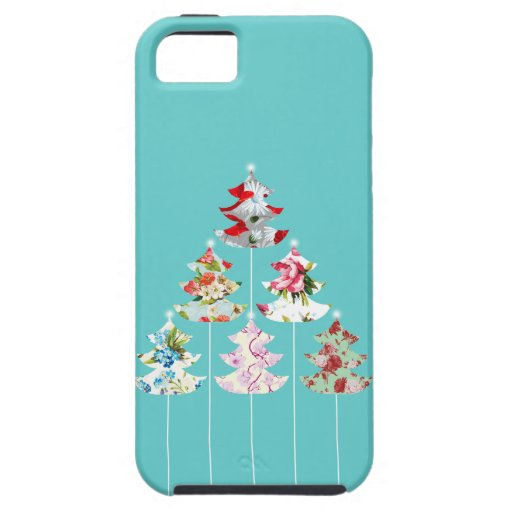 Girly Christmas Tree Vintage Floral Case iPhone 5 Covers
