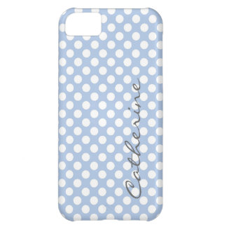 Girly, classic pastel light purple polka dots cover for iPhone 5C