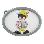 Girly Clown with Accordian Belt Buckle