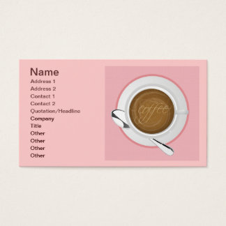 GIRLY COFFEE PINK CAFE HAPPY BEVERAGES GOOD MORNIN BUSINESS CARD