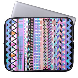 Girly Colorful Aztec Pattern Computer Sleeves