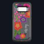 "Girly Colorful Floral Pattern Custom Name Monogram OtterBox Commuter Samsung Galaxy S8 Case<br><div class=""desc"">Add your name or monogram to this funky illustration with flowers a graphic circles.</div>"
