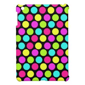 Girly Colorful Fun Neon Polka Dots Pattern iPad Mini Cover