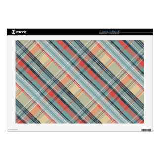 girly colorful gingham plaid pattern laptop decals