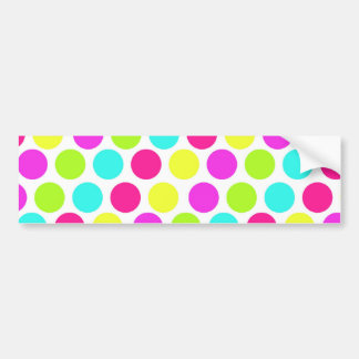 Girly Colorful Polka Dots Pattern for Girls Car Bumper Sticker