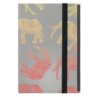 girly colorful tribal floral elephant pattern iPad mini cover