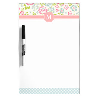 Girly Country Floral Personalized Dry-Erase Board