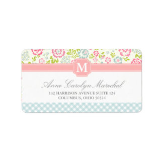 Girly Country Floral Personalized Label