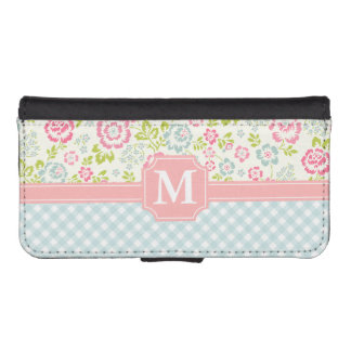 Girly Country Floral Personalized Phone Wallet