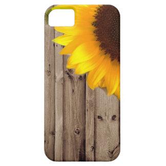 girly country sunflower barnwood modern iPhone SE/5/5s case