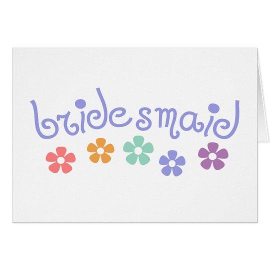 Girly-Cue Bridesmaid Card