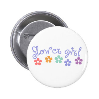 Girly-Cue Flower Girl Button