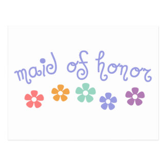 Girly-Cue Maid of Honor Postcard