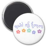 Girly-Cue Maid of Honor Refrigerator Magnets