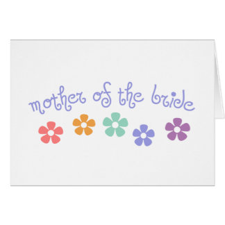 Girly-Cue Mother of Bride Greeting Card