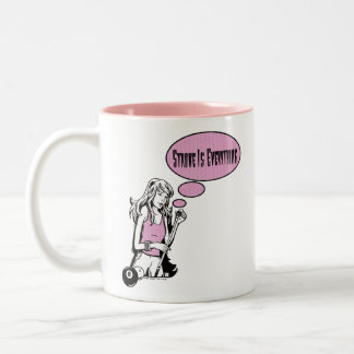 Girly Cue Two-Tone Coffee Mug