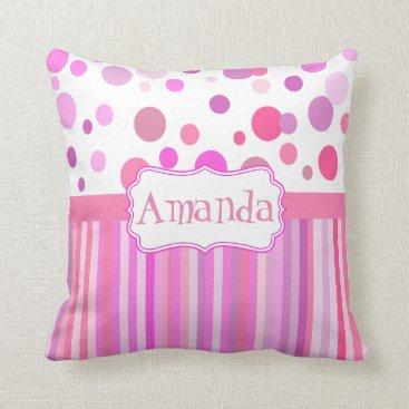 Boopoobeedoogift Girly custom cushion, girl's room throw pillow