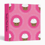 Girly Custom Kawaii Pink Cupcake School Binder