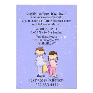 Girly Custom Slumber Party Birthday Invitation
