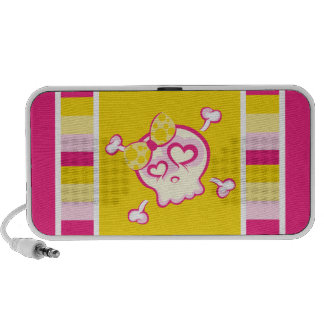 Girly Cute Candy Skull Bright Colors Speakers