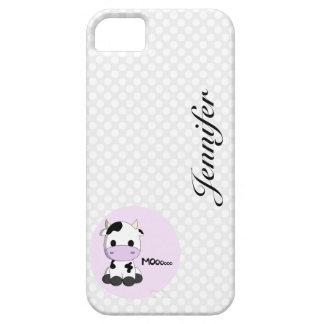 Girly cute cow cartoon customizable girls iPhone SE/5/5s case