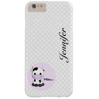 Girly cute cow cartoon customizable kids barely there iPhone 6 plus case