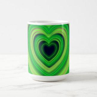 Girly Cute Neon Heart Design Coffee Mug