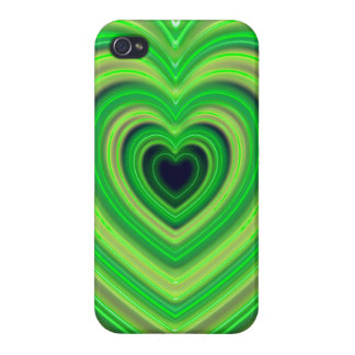 Girly Cute Neon Heart Design iPhone 4/4S Case