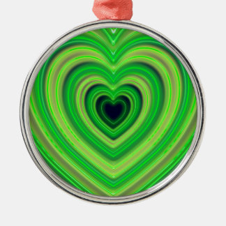 Girly Cute Neon Heart Design Metal Ornament