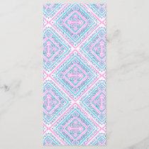 Girly Cute Pink Blue Aztec Tribal Pattern