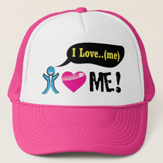 Girly cute pink course trucker hat