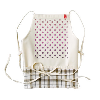 Girly Cute Pink Polka Dots Faux Glitter Zazzle HEART Apron