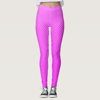 Girly  Cute Pink Polka Dots  Pattern Leggings