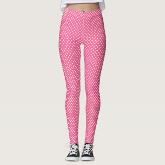 Girly  Cute Red Polka Dots  Pattern Leggings