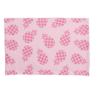 Girly cute summer pastel pink pineapple pattern pillow case