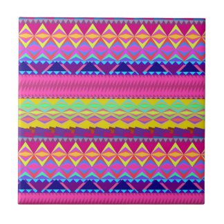 Girly cute trendy aztec andes design ceramic tile