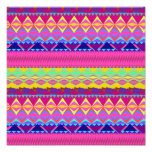Girly cute trendy aztec andes design photo print