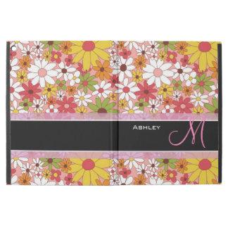 Girly Daisy Flowers Stylish Floral Monogrammed iPad Pro Case
