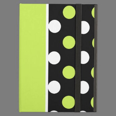 Girly Damask and Polka Dot Patterns iPad Folio Cases