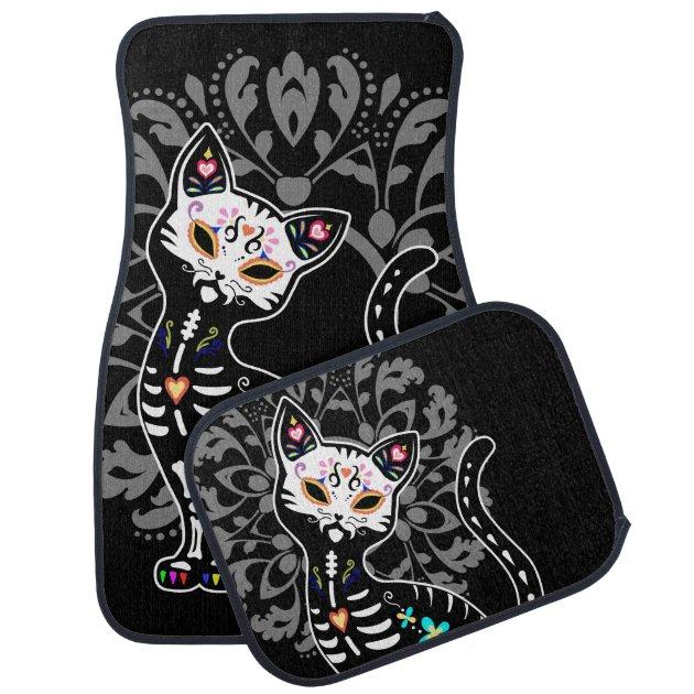 cute car floor mats. Delighful Car Girly Day Of The Dead Cute Skeleton Cat Custom Car Floor Mat  Zazzlecom Inside Cute Mats