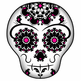 Girly day of the dead sugar skull cutout