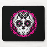 Girly day of the dead sugar skull mouse pad