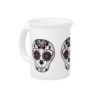 Girly day of the dead sugar skull super cute pitchers